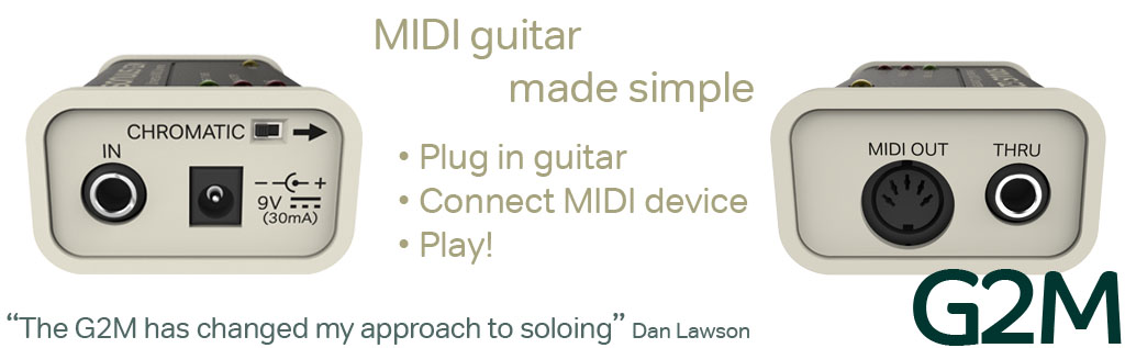 Guitar to MIDI Converter (5-pin MIDI)