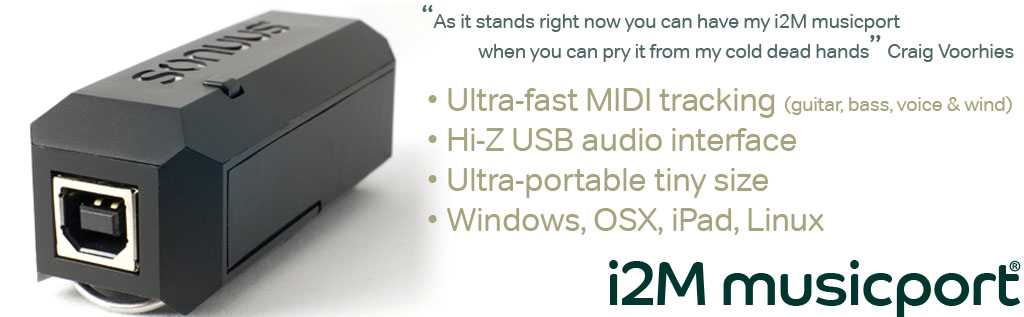 Universal Audio to MIDI Converter and USB Audio Interface Sonuus i2M Musicport